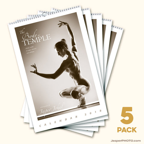 Bundle #E: Body as Temple 2018 Calendars - FIVE PACK
