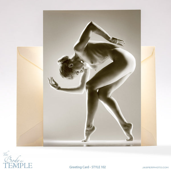 "Jasper Johal's art nude ""Body as Temple"" greeting card #102"