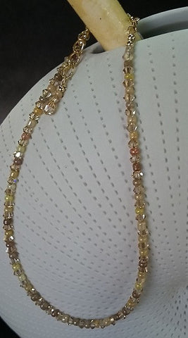 Sand & Crystal Beaded Anklet