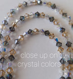 Beaded Light Crystals & Black Diamond - Swarovski™ Crystals - Anklet