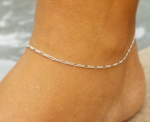 Fine Figaro Anklet (Sterling Silver or 14K Gold Fill)