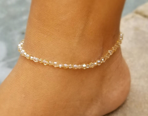 Close up of Golden Shadows Deluxe Anklet