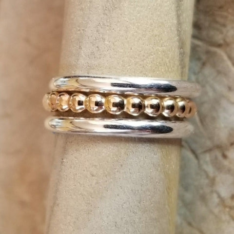 Beaded Berri (14K gold-fill) & Classic Bands