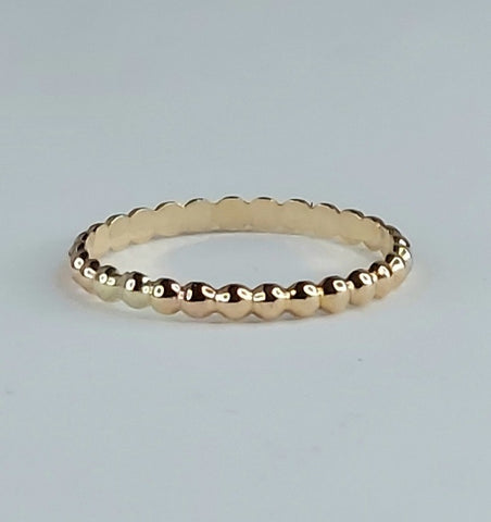 Beaded Berri Ring -14K Gold-Fill