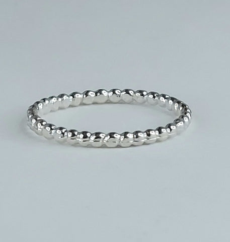Beaded Berri Ring - Sterling Silver