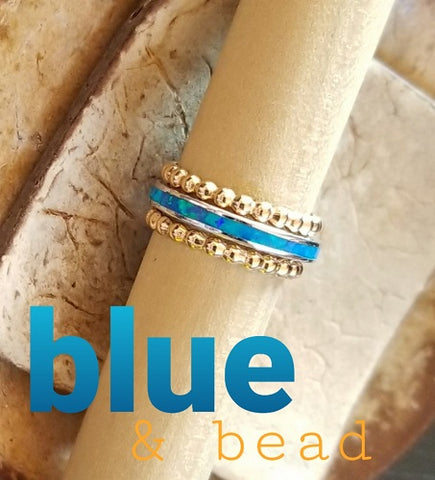 Blue Opal Channel & Beaded Berri