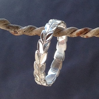 Diecut Leaf - Sterling Silver  (Hawaiian Lei or Arrows)