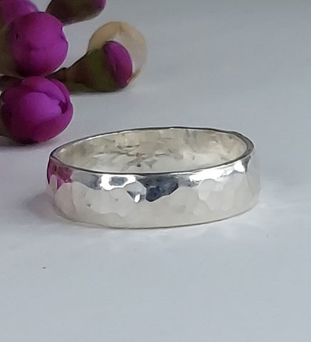 Bold Hammered - Sterling Silver or Gold-fill - Ring