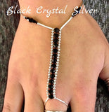 Hand Jewelry - Black Crystal