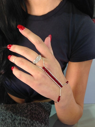 Hand Jewel - Ruby Red