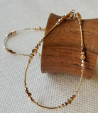 Rose Gold Anklet in Sterling Silver or 14K Gold Fill