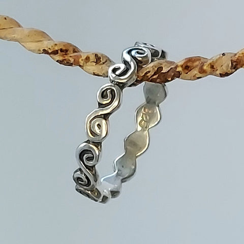 Swirly - Sterling Silver