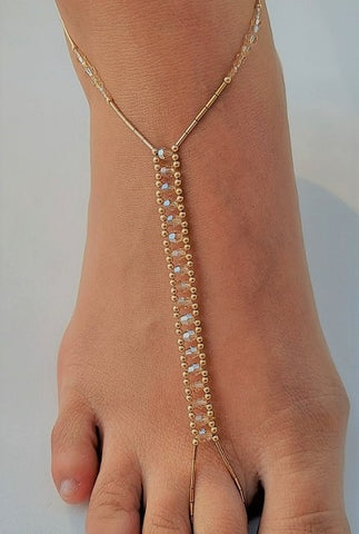 Golden Shadows Swarovski Crystal & 14K Gold-Fill Foot Jewel