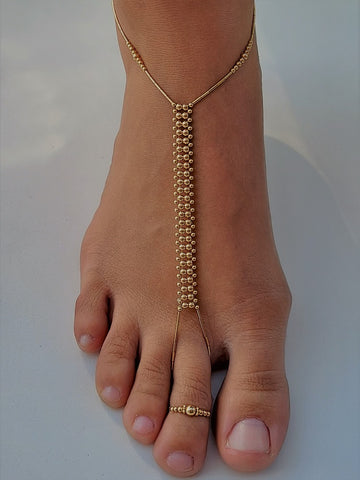 Solid 14K Gold-Fill Foot Jewelry