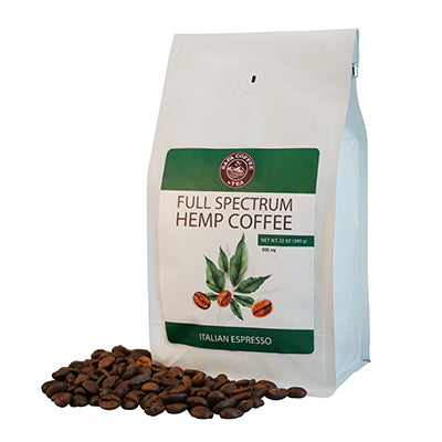 Full Spectrum Hemp Coffee 300mg - Italian Roast Espresso
