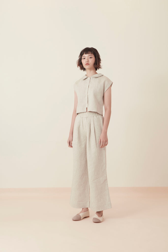 SIMPLE WIDE-LEG PANTS SS19