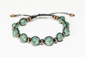 ADJUSTABLE STONE BRACELET - AVENTURINE