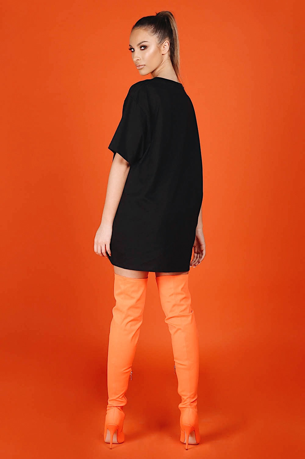 ARCTIC T SHIRT - BLACK/ ORANGE LADIES (PRE-ORDER)