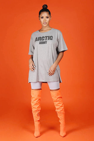 ARCTIC T SHIRT - GREY/BLACK LADIES