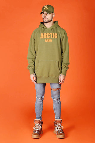 ARCTIC HOODIE - KHAKI / ORANGE MEN'S