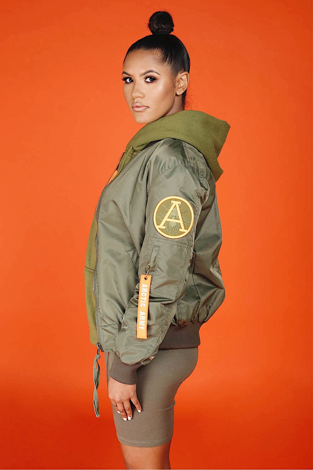 LIGHT FLIGHT BOMBER KHAKI/ORANGE LADIES