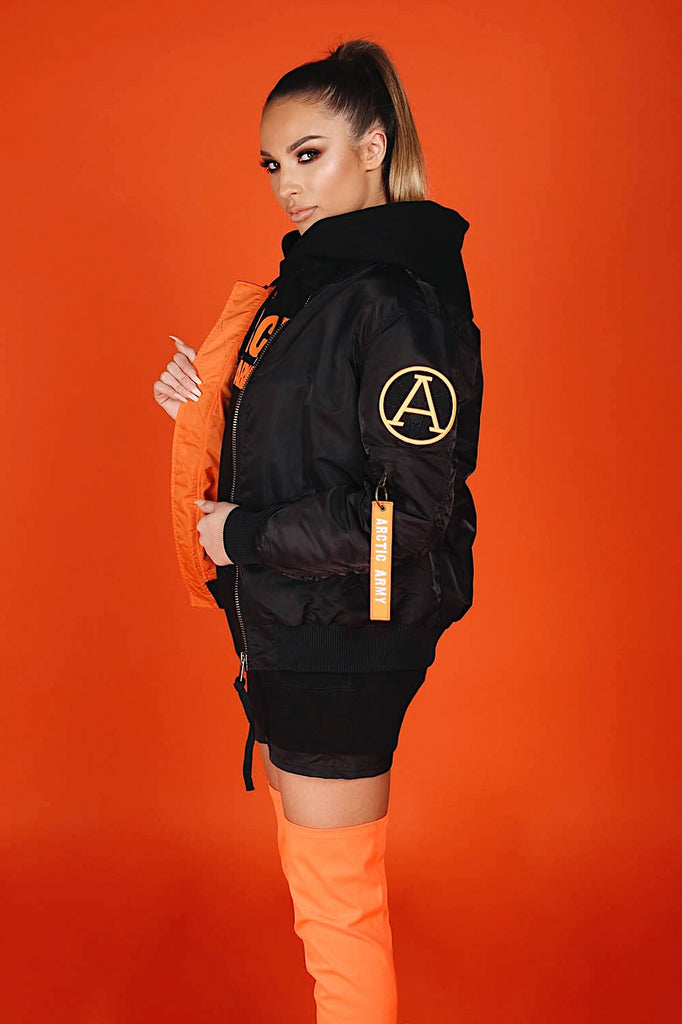 LIGHT FLIGHT BOMBER BLACK/ORANGE LADIES (PRE-ORDER)