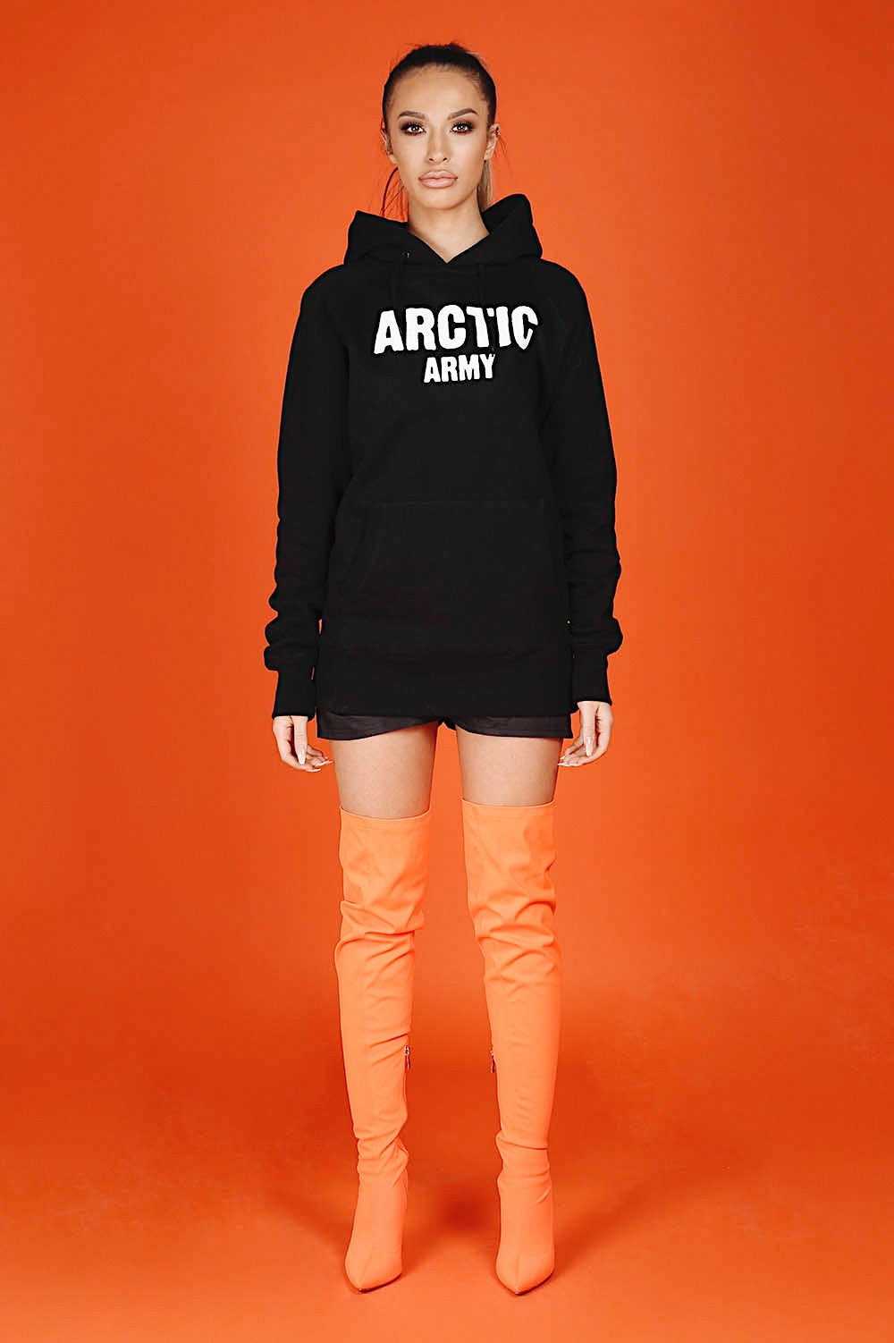 ARCTIC HOODIE - BLACK/ WHITE LADIES