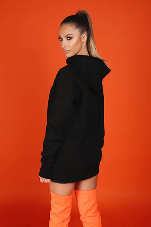 ARCTIC HOODIE - BLACK/ ORANGE LADIES