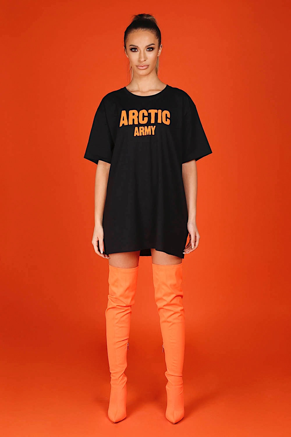 ARCTIC T SHIRT - BLACK/ ORANGE LADIES