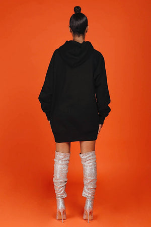 ARCTIC HOODIE - BLACK/ REFLECTIVE LADIES