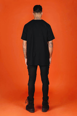 ARCTIC T SHIRT - BLACK/ ORANGE MEN'S