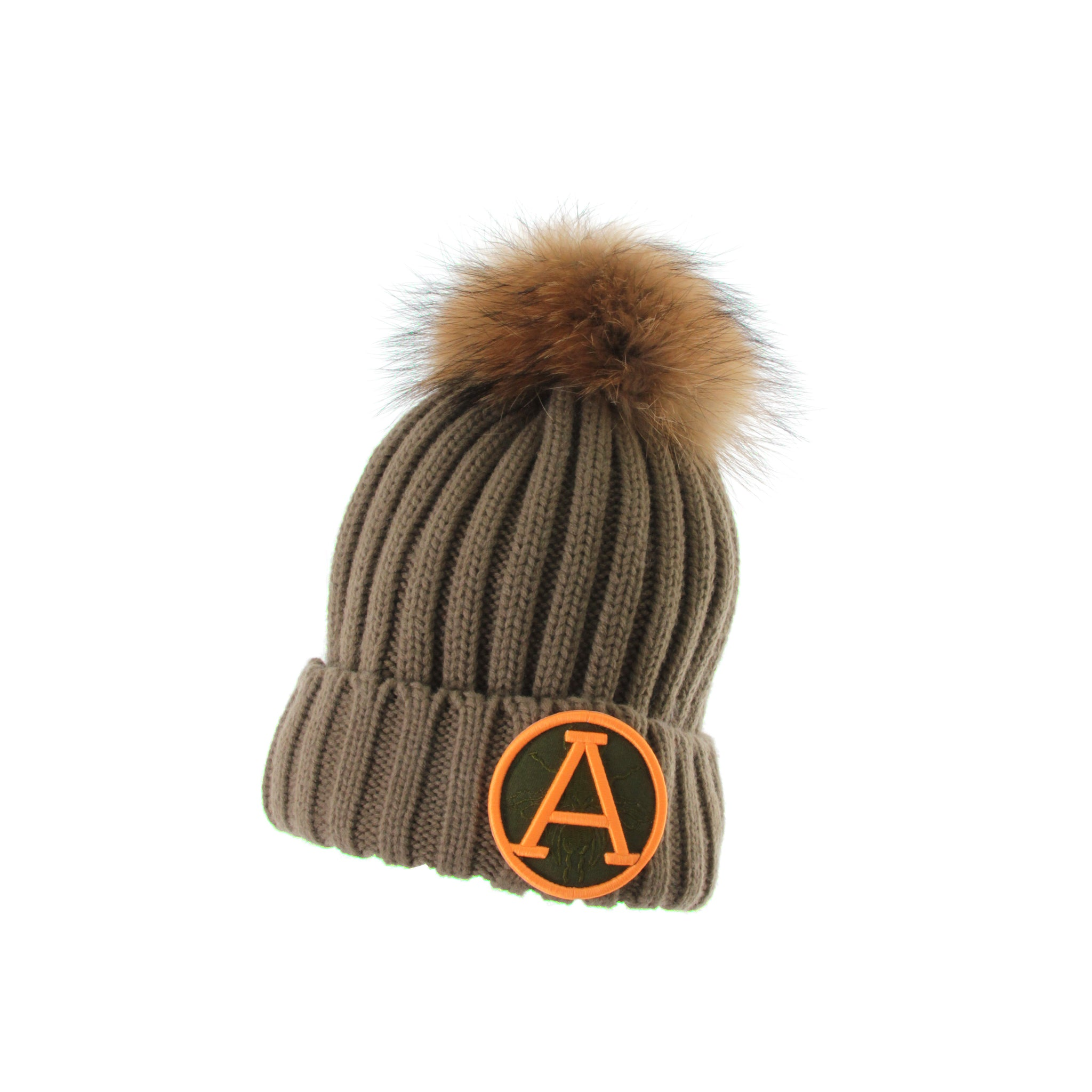 SALE! 50% OFF! ARCTIC ARMY FUR POM POM HAT KHAKI