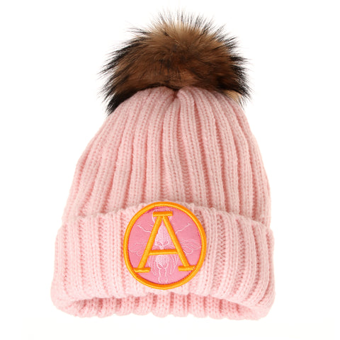 ARCTIC ARMY FUR POM POM HAT LIGHT PINK