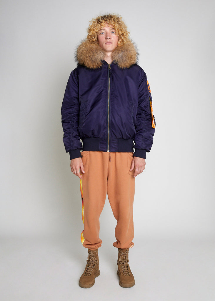 BOMBER JACKET - NAVY/NATURAL