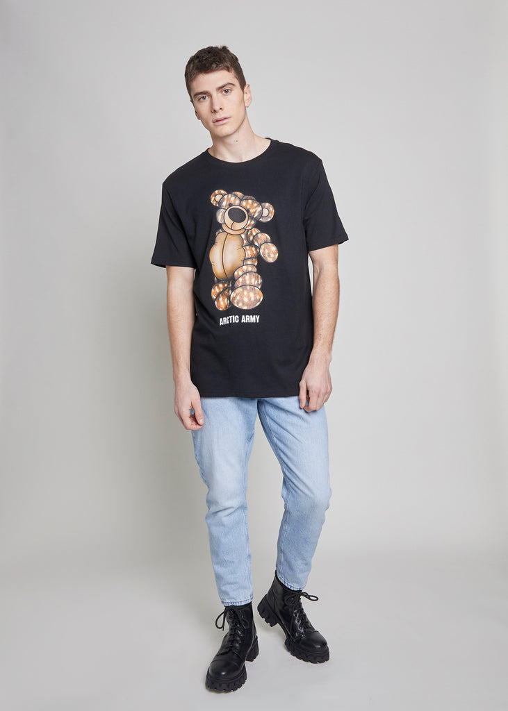 PUFFER BEAR T-SHIRT - ARCTIC DOE/BLACK