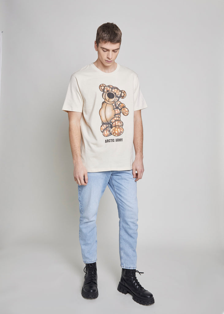 PUFFER BEAR T-SHIRT - ARCTIC DOE/NATURAL