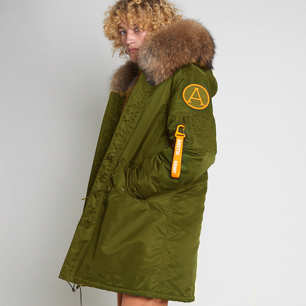 NEW PARKA - KHAKI/NATURAL