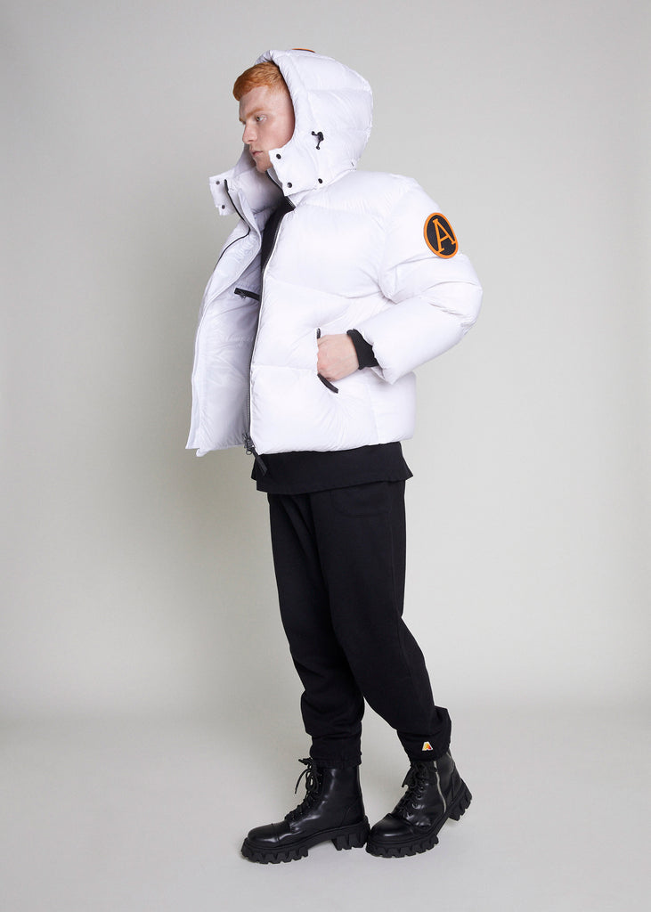 PUFFER JACKET - WHITE MATTE GLOSS