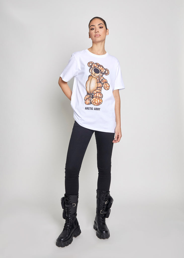 PUFFER BEAR T-SHIRT - ARCTIC DOE/WHITE
