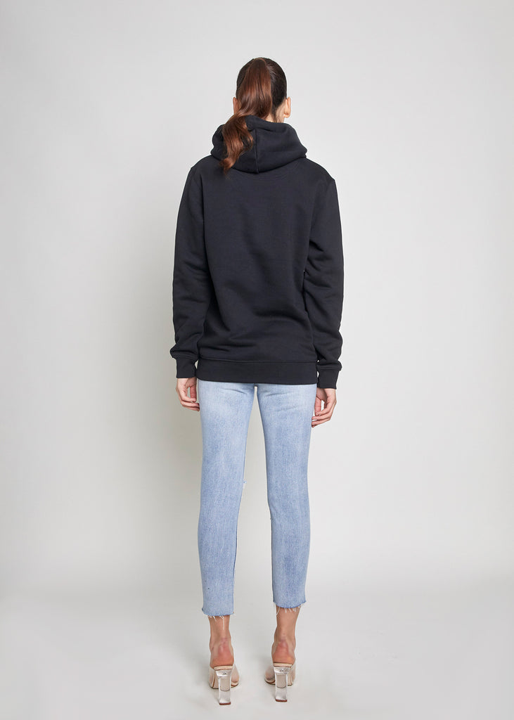 MOUNTAINS HOODIE - BLACK