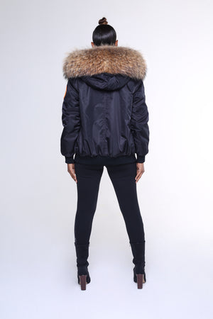 ARCTIC CLASSIC BOMBER - BLACK / NATURAL LADIES