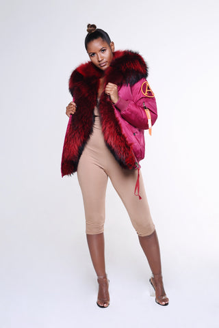 ARCTIC SUPER LUX BOMBER - BURGUNDY / BURGUNDY LADIES