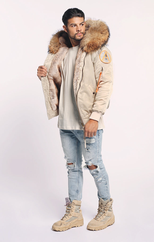 FAUX ARCTIC CLASSIC BOMBER - NUDE/ NATURAL - MEN'S