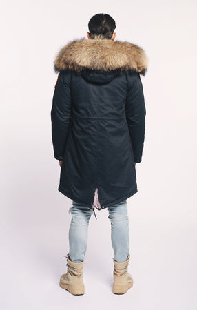 ARCTIC CLASSIC PARKA MID LENGTH - NAVY/ NATURAL - MEN'S