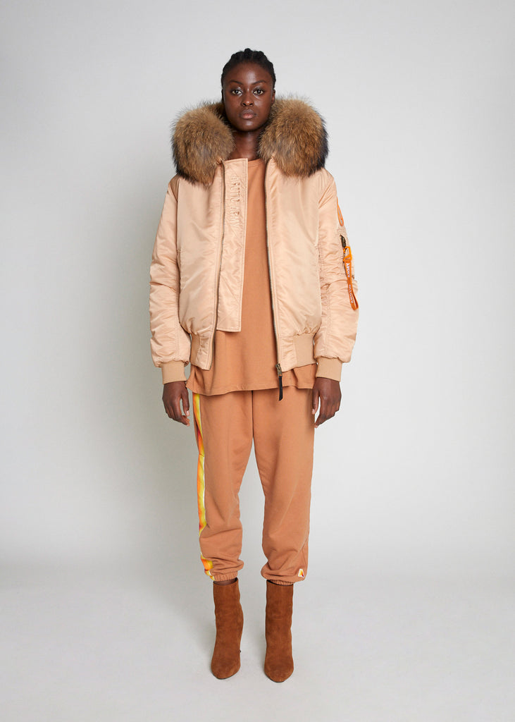 BOMBER JACKET - SAND/NATURAL