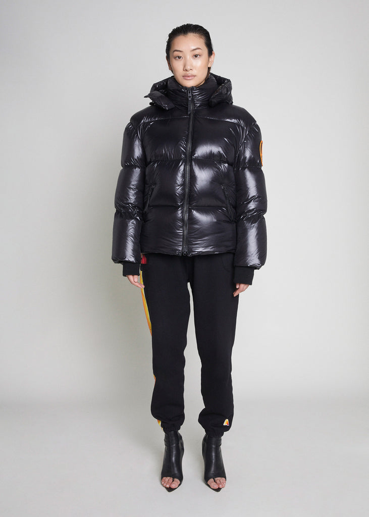 PUFFER JACKET - BLACK MATTE GLOSS