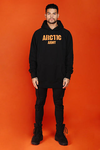 ARCTIC HOODIE - BLACK/ ORANGE MEN'S