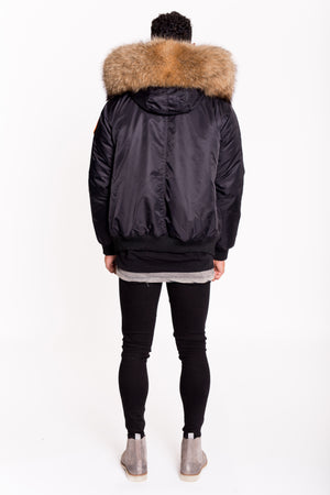 ARCTIC CLASSIC BOMBER - BLACK / NATURAL - MEN'S
