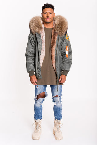 ARCTIC CLASSIC BOMBER - GREEN / NATURAL - MEN'S