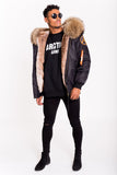 FAUX ARCTIC CLASSIC BOMBER - BLACK / NATURAL - MEN'S
